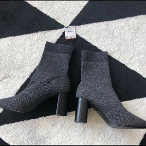 Zara Shimmery Sock Boots